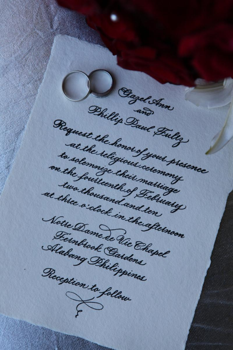 Megan Chapin, wedding calligrapher, Twinrocker
